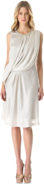 Viktor & Rolf Sleeveless Drape Dress - Lyst