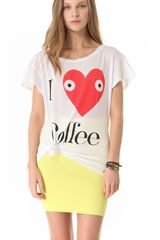 Wildfox Addicted Tee - Lyst