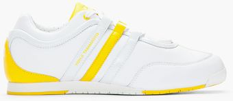 Y-3 White and Yellow Boxing Sneakers - Lyst