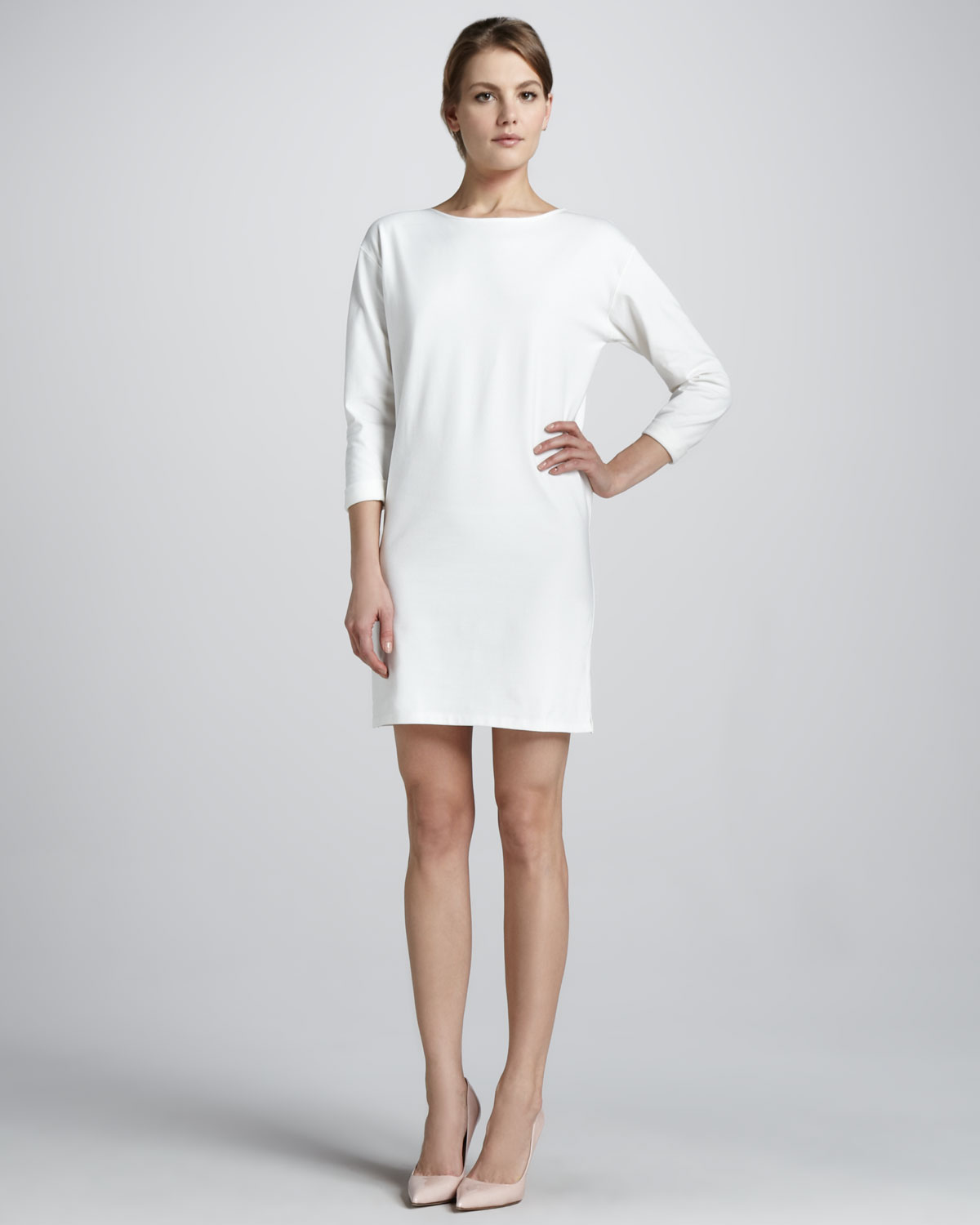 56400d2e815 Theory Ode Crepe Shift Dress in White - Lyst