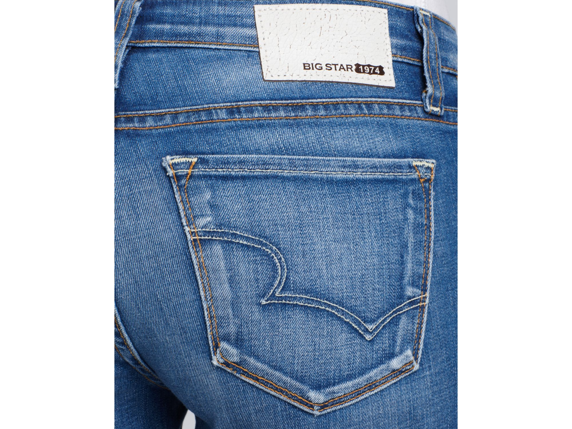 Big star Jeans Alex Skinny Ankle in Olympia Pale in Blue   Lyst