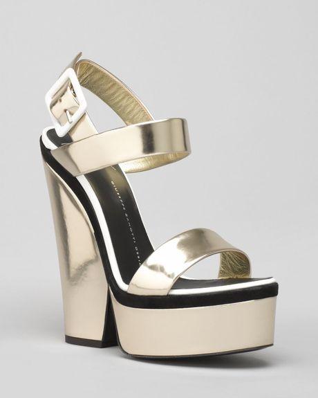 Giuseppe Zanotti Cutout Platform Wedge Sandals Good in ...