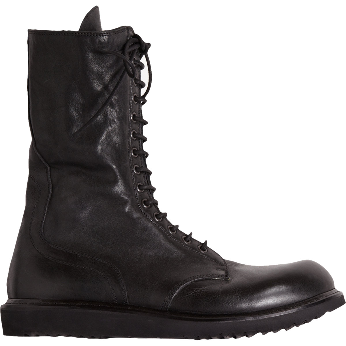 Rick Owens Tall Combat Boots In Black For Men Lyst