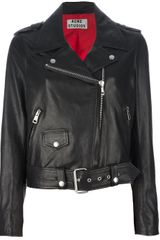 Acne Leather Jacket - Lyst