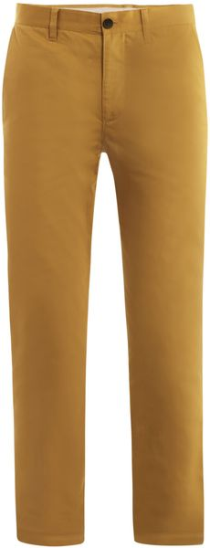 Acne Roc Satin Slim-fit Chino Trousers - Lyst