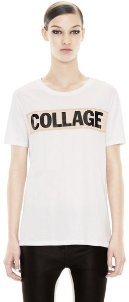 Acne Joshi Collage C White - Lyst