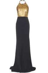 Alexander McQueen Gown with Sequin Trimmed Bodice