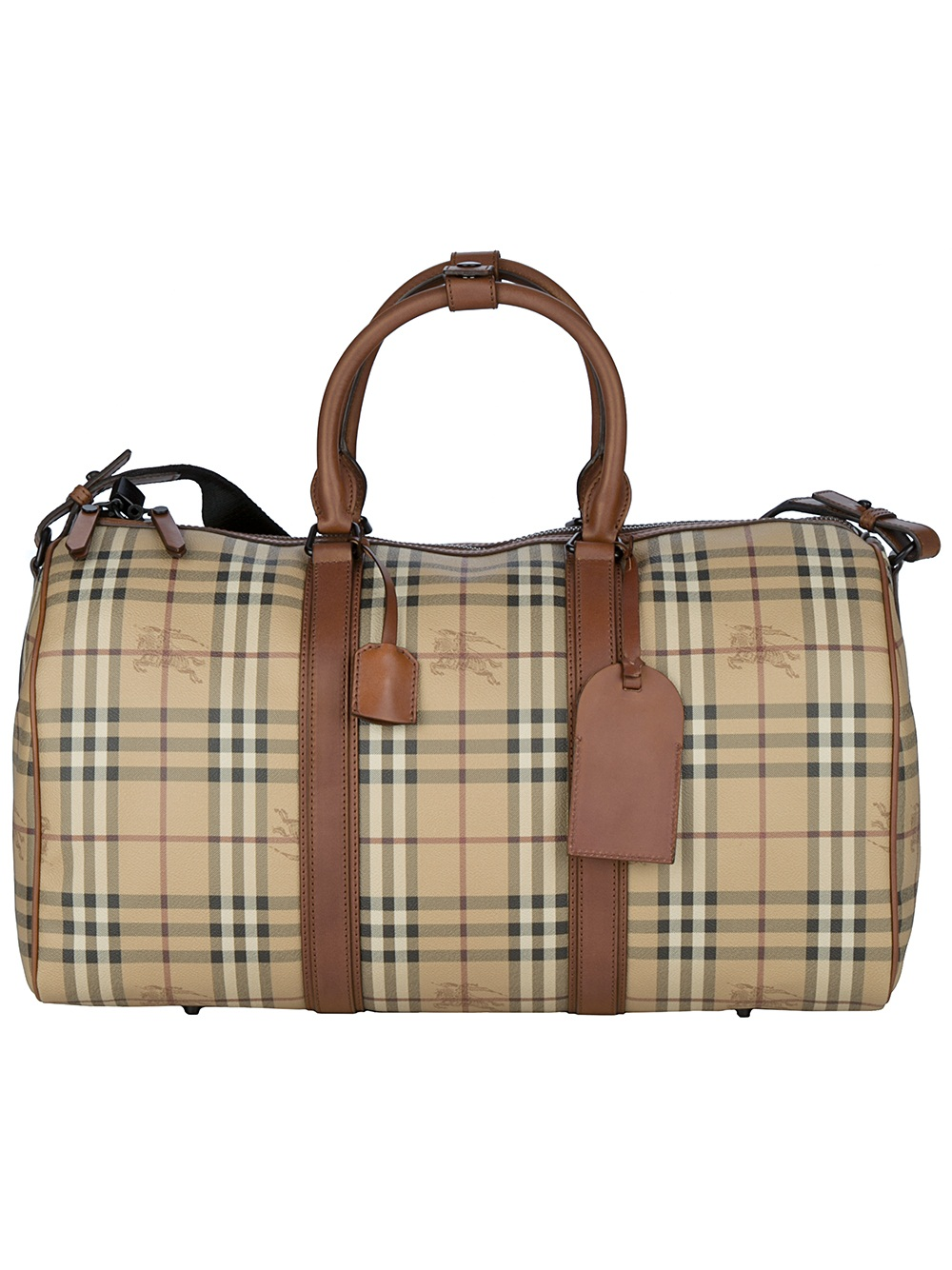 1a87bc0f326c Lyst - Burberry Haymarket Holdall Bag in Brown for Men