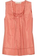 Marc Jacobs Gathered Silk Top - Lyst