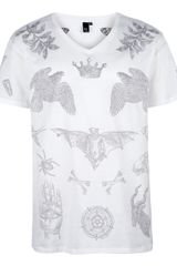 McQ by Alexander McQueen Illustrated Print Tshirt - Lyst