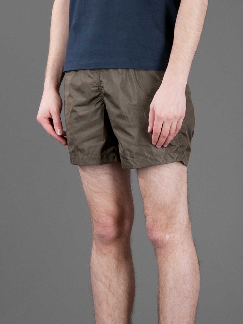 khaki green moncler shorts