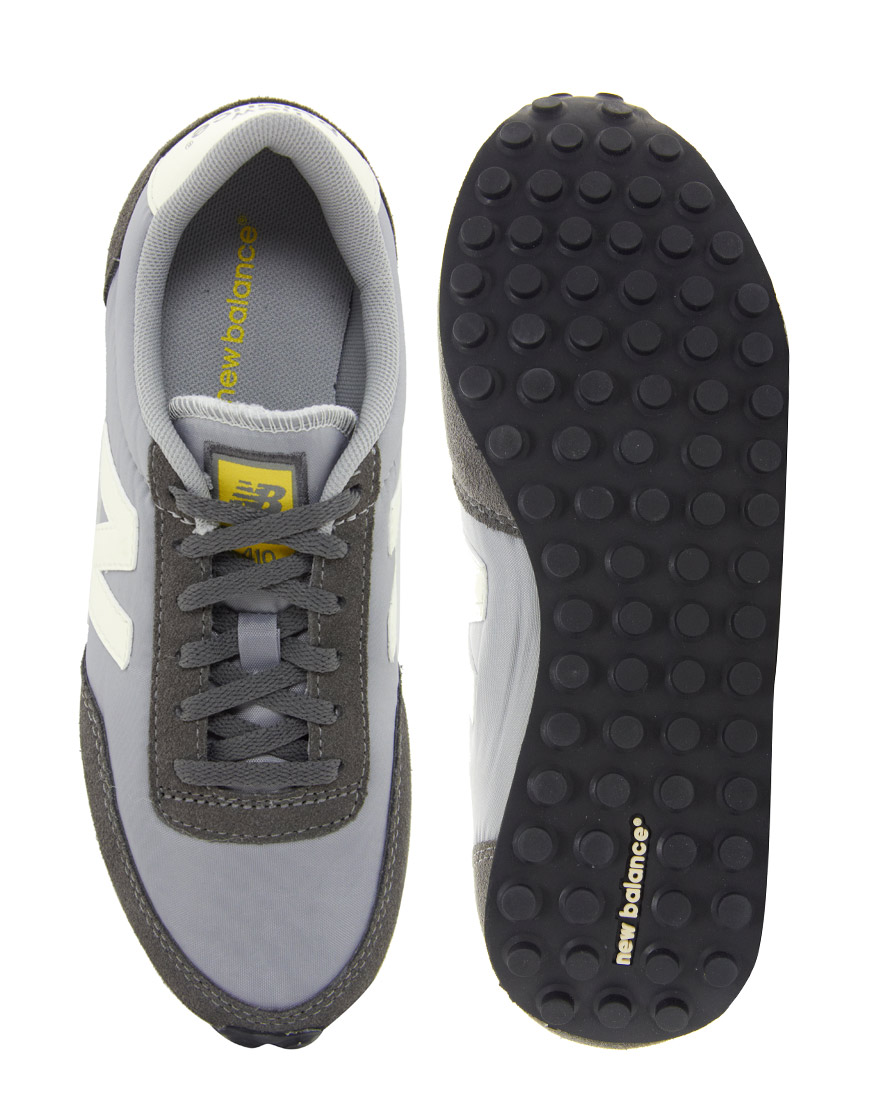 b49e080616d36 ... discount code for new balance 410 grey yellow trainers in gray lyst  fa8da 532db