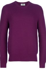 Acne Cusco Striped Knit Sweater - Lyst