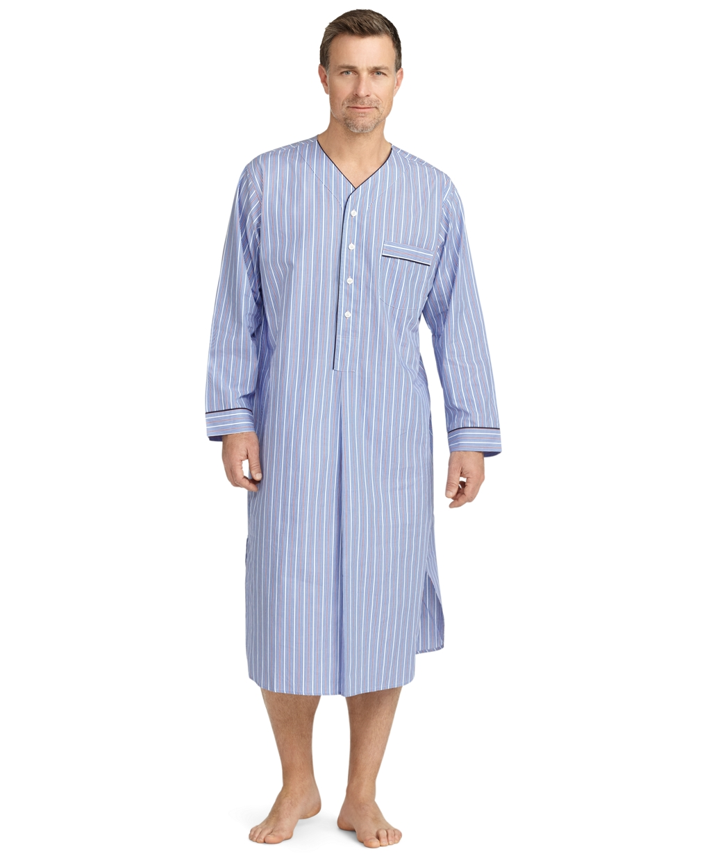 Lyst - Brooks Brothers Alternating Stripe Nightshirt in Blue for Men 86d7eaba8