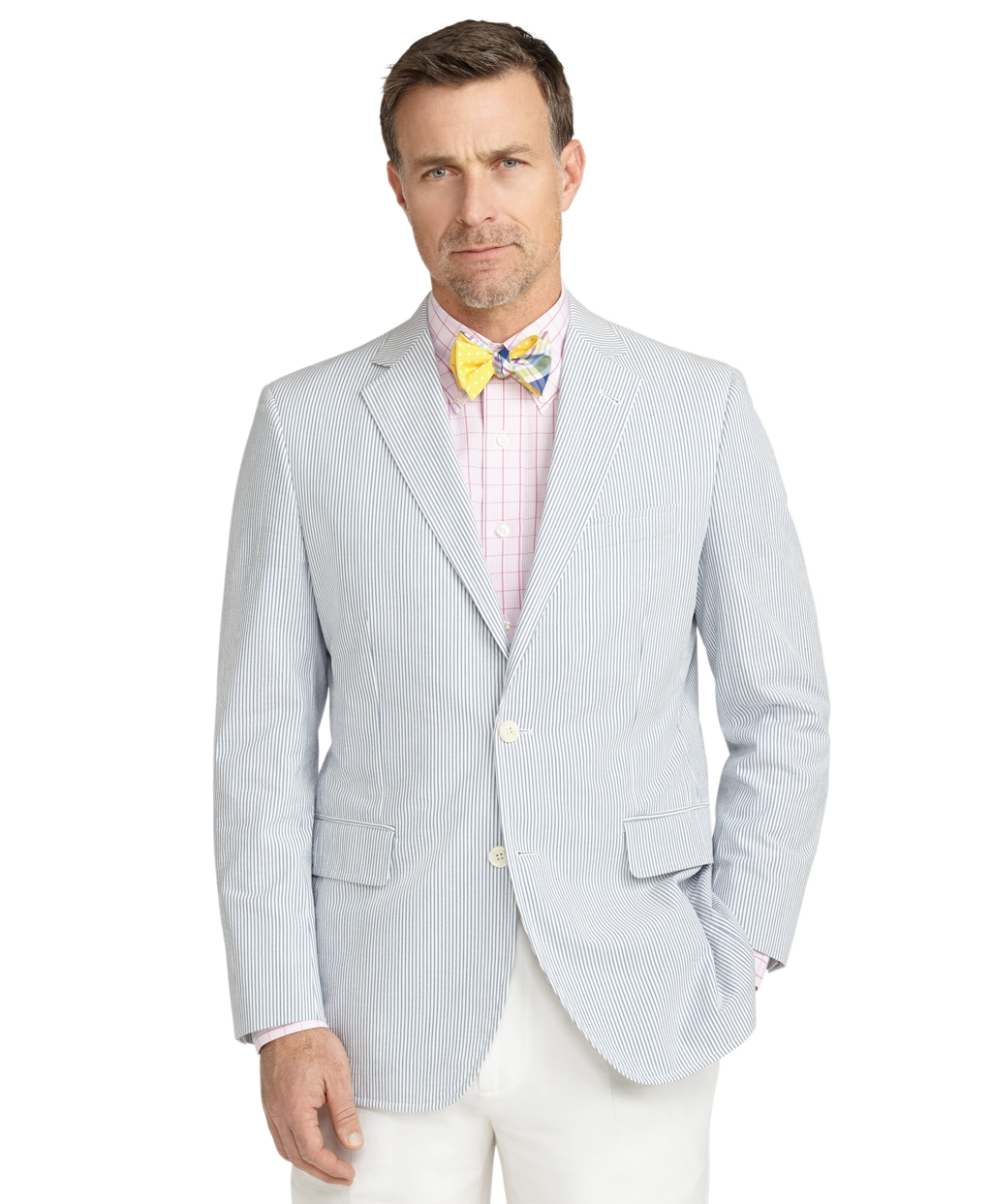Brooks Brothers Madison Fit Seersucker Sport Coat In Blue