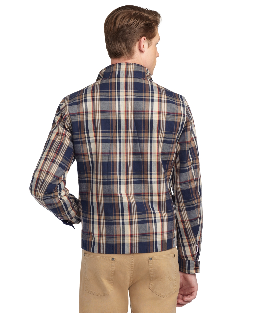Lyst brooks brothers reversible madras barracuda jacket for Brooks brothers tall shirts