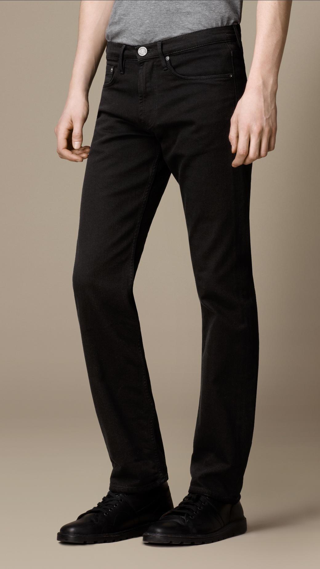 42ec9573ec5 Burberry Cavendish Black Rinse Straight Fit Jeans in Black for Men ...