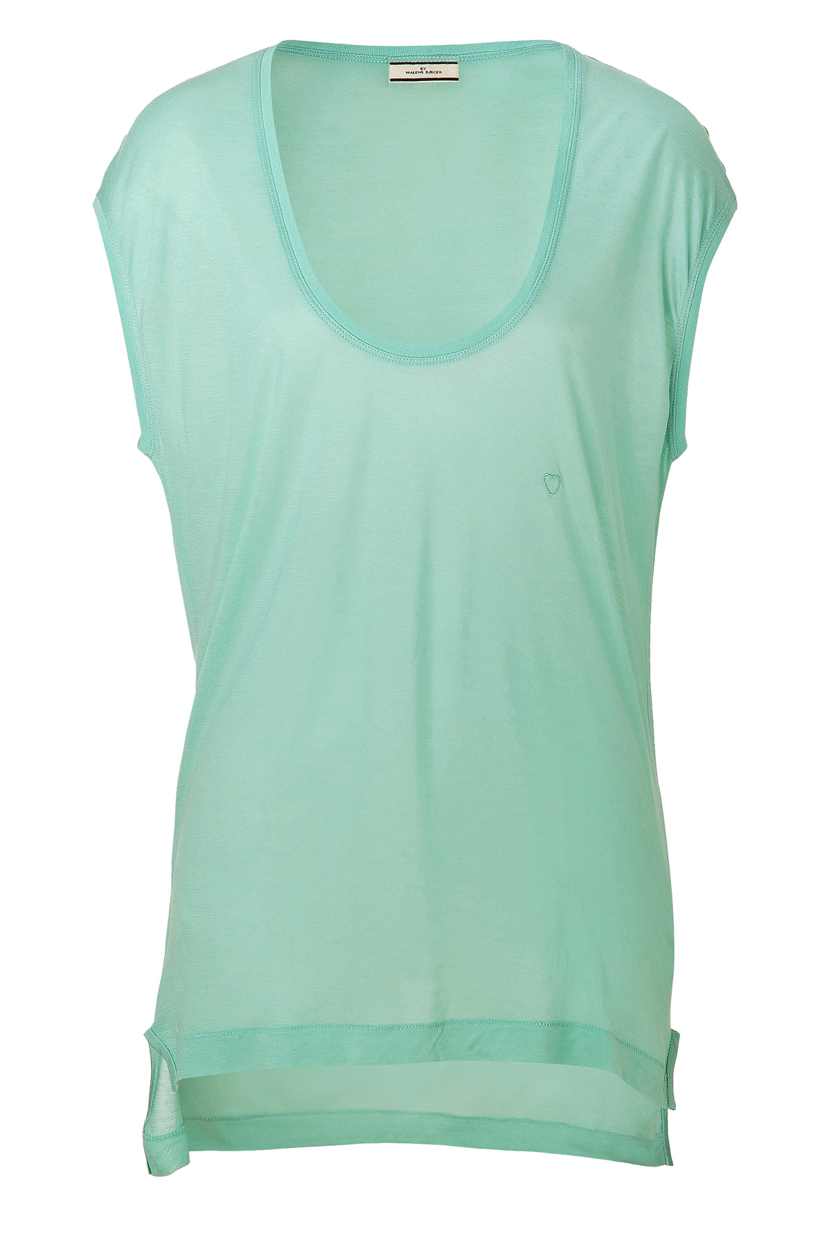 By malene birger light mint tyrwa t shirt in green mint for Mint color t shirt