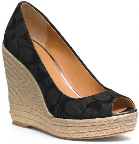 Coach Milan Wedge in Black