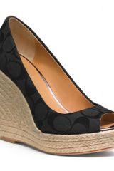 Coach Milan Wedge in Black - Lyst