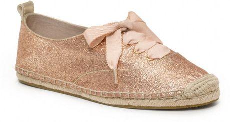 Coach Ramira Glitter Espadrille in Pink (gold/gold)