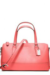 Coach Saffiano Leather Mini Satchel - Lyst