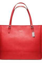 Coach Saffiano Large City Tote - Lyst