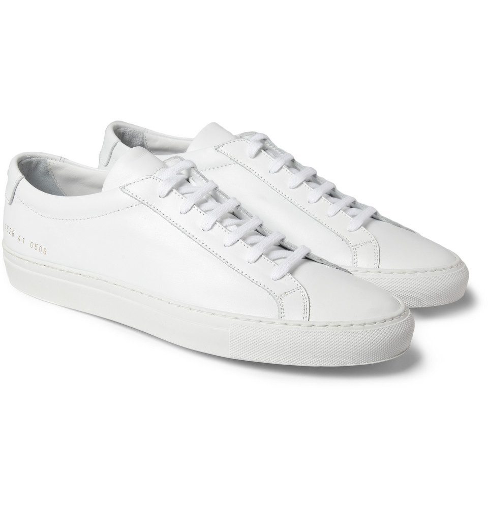 common projects original achilles leather low top sneakers in white for men lyst. Black Bedroom Furniture Sets. Home Design Ideas