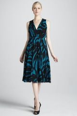 DKNY Printed Sleeveless Dress - Lyst