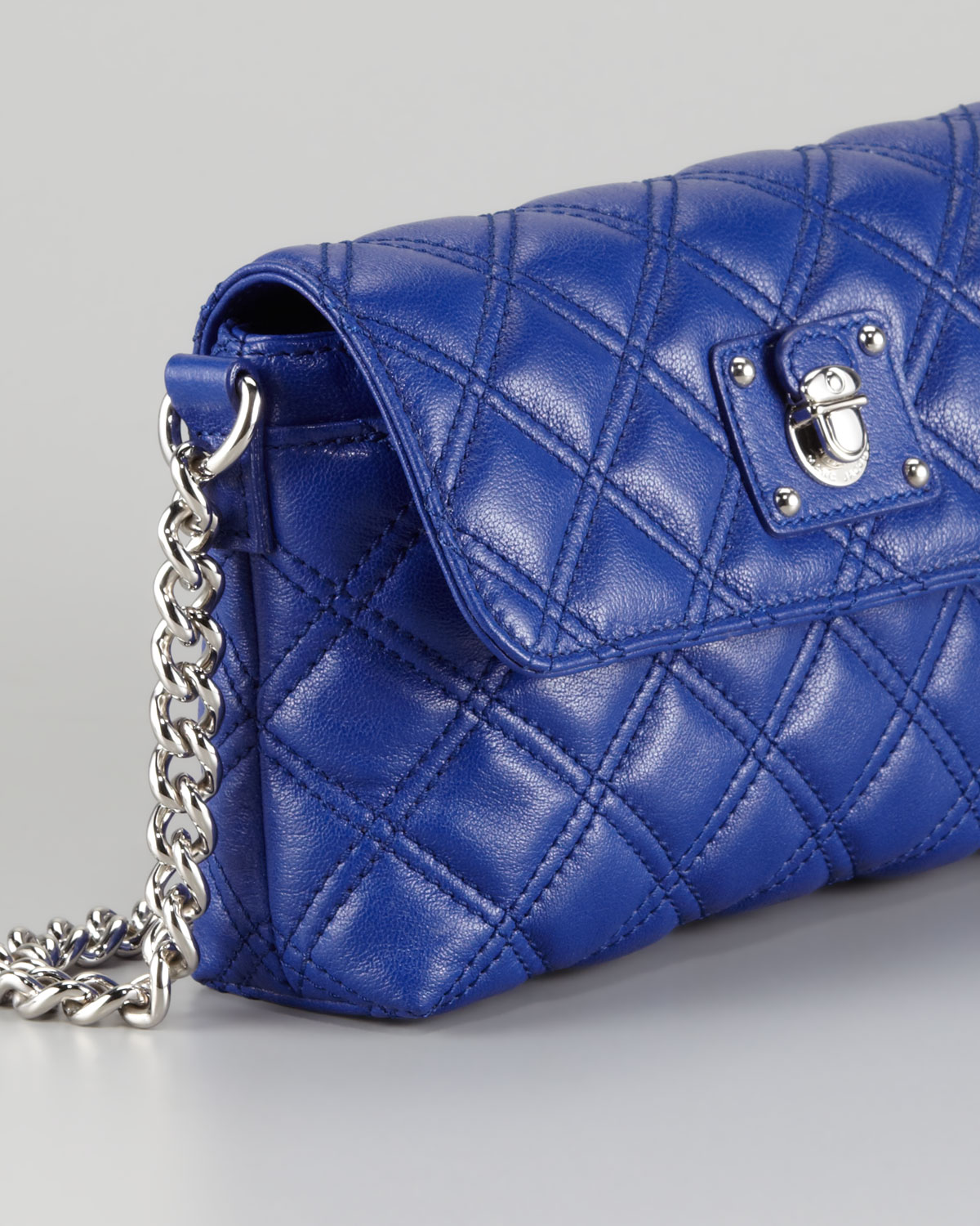 66408c6f5a4 Marc Jacobs Single Quilted Large Crossbody Bag Blue in Blue - Lyst