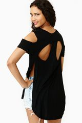 Nasty Gal Split Level Tee - Lyst