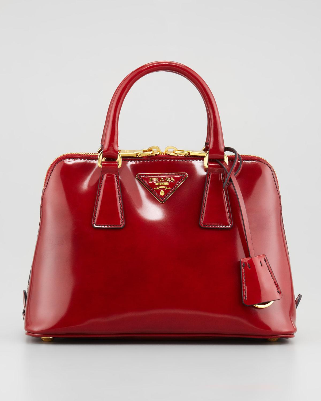 5daafdbd3ca4 ... france lyst prada spazzolato promenade satchel bag in red b8f09 da805