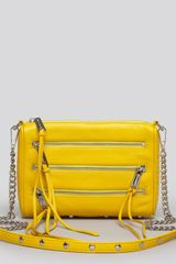 Rebecca Minkoff Five Zip Mini Crossbody clutch - Lyst