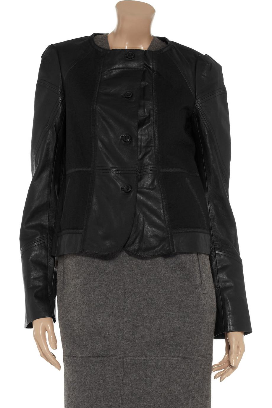 Vanessa bruno leather jacket