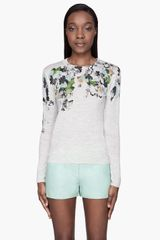 3.1 Phillip Lim Floral Printed Sweater - Lyst