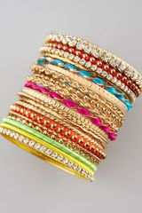 Cara Accessories 21piece Bangle Set - Lyst