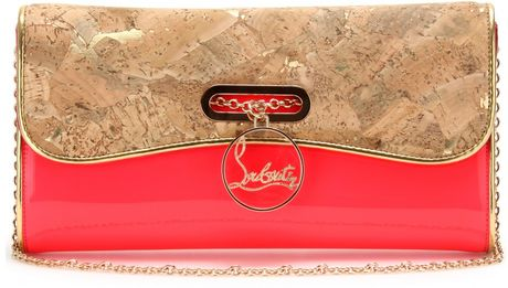 Christian Louboutin Riviera Patent Leather Clutch in Pink