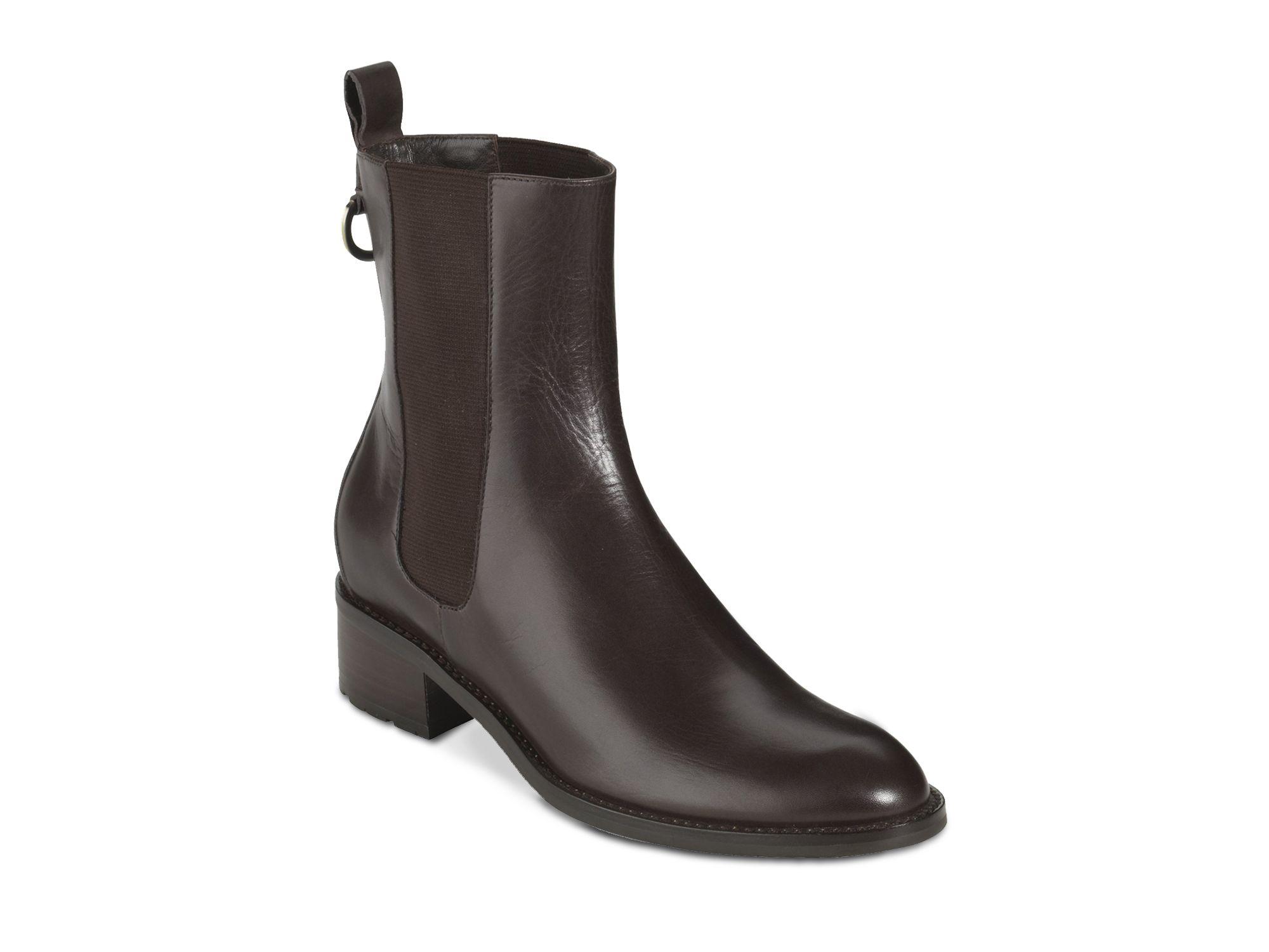 cole haan flat waterproof booties evan in black chocolate
