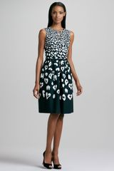 David Meister Animal Print Full Skirt Dress - Lyst