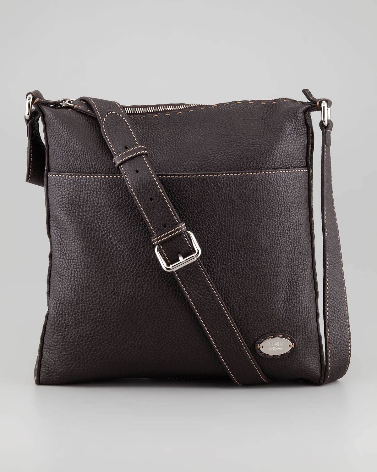 fb26a5f86a Lyst - Fendi Selleria Mens Medium Messenger Bag in Brown for Men