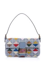 Fendi Graphic Beaded Baguette Bag - Lyst