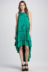 Free People Tieredhem Embroidered Dress - Lyst