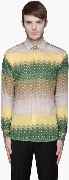 Jonathan Saunders Tape and Green Dot Stripes Shirt - Lyst