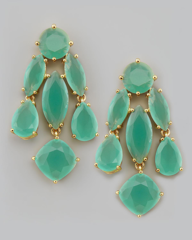 Lyst Kate Spade Crystal Statement Earrings In Green