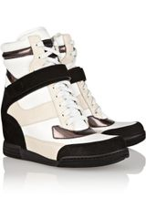Marc By Marc Jacobs Leather Hightop Wedge Sneakers - Lyst