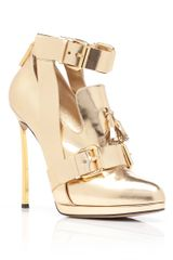 Prabal Gurung Gold High Heel Oxford