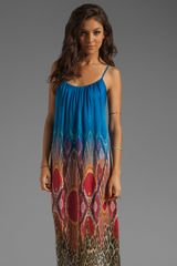 Twelfth Street by Cynthia Vincent Low Back Maxi in Blue Ombreleopard - Lyst