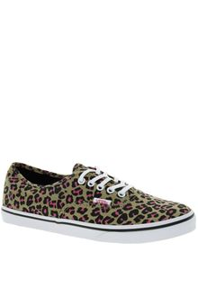 Vans Authentic Lo Pro Leopard Trainers - Lyst