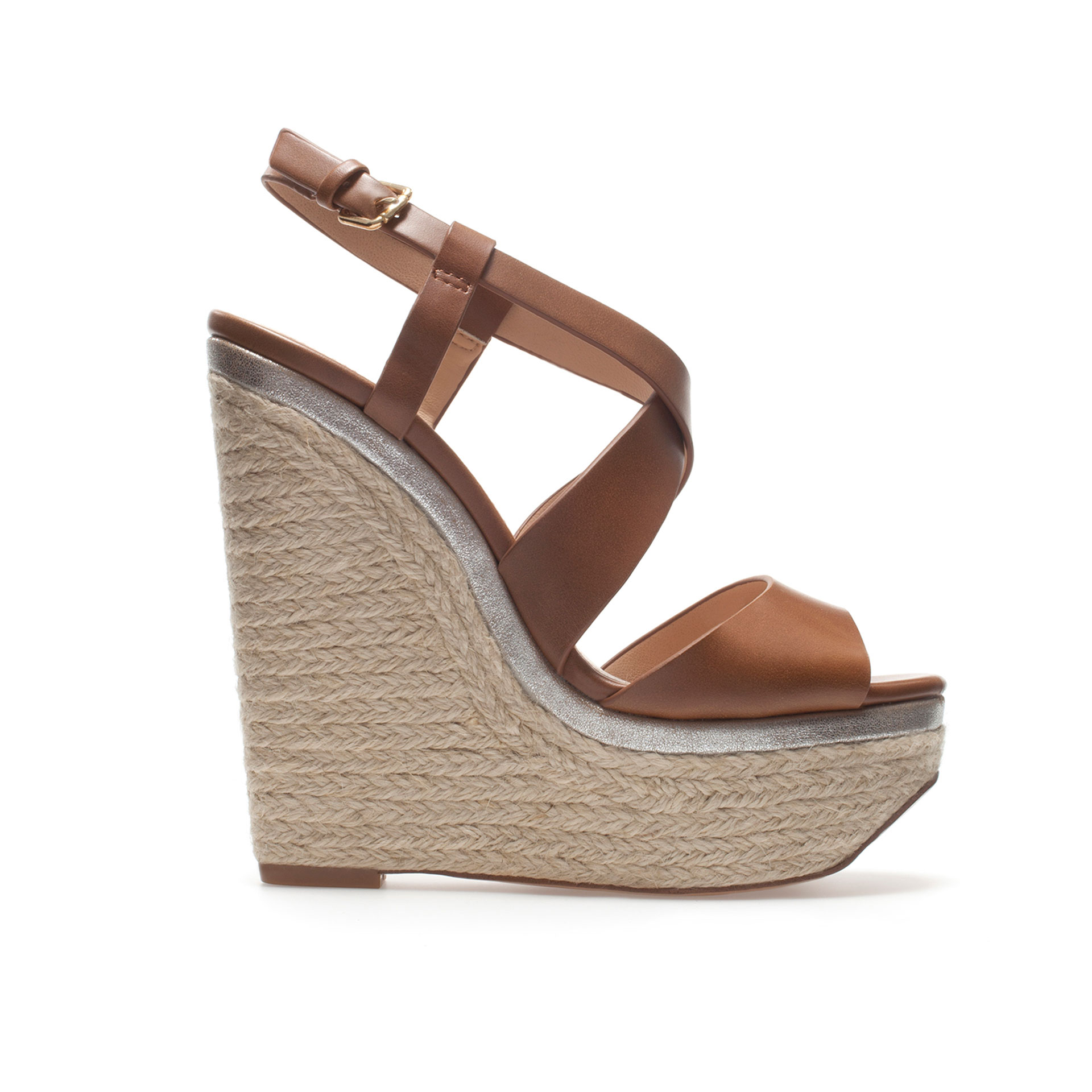 Zara Brown Platform Shoes