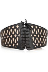 Alaïa Lasercut Leather Corset Belt - Lyst